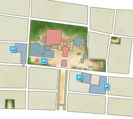国府宮神社の駐車場