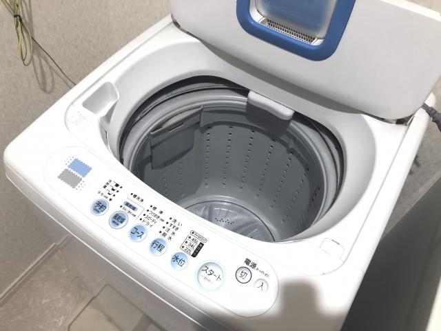 洗濯機は月1回