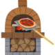 ナチュラルビュッフェ ユコーネのピザが本格的過ぎて凄い!